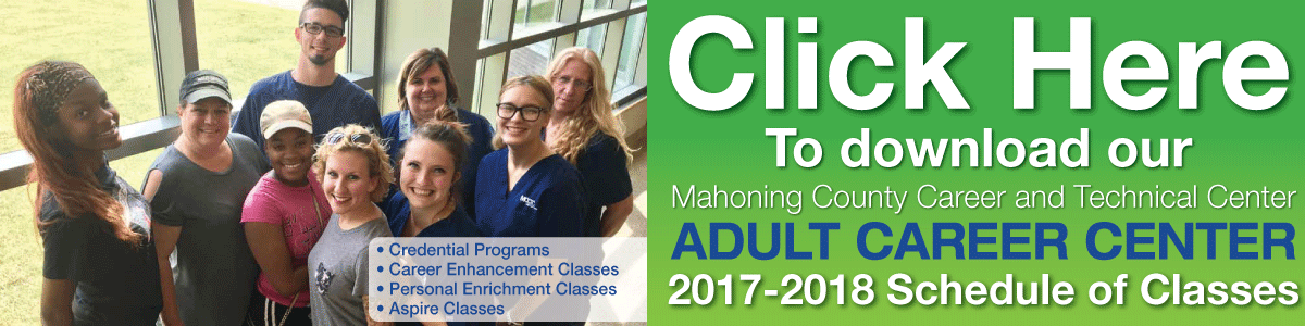 MCCTC Adult Career Center 2017-18 Schedule