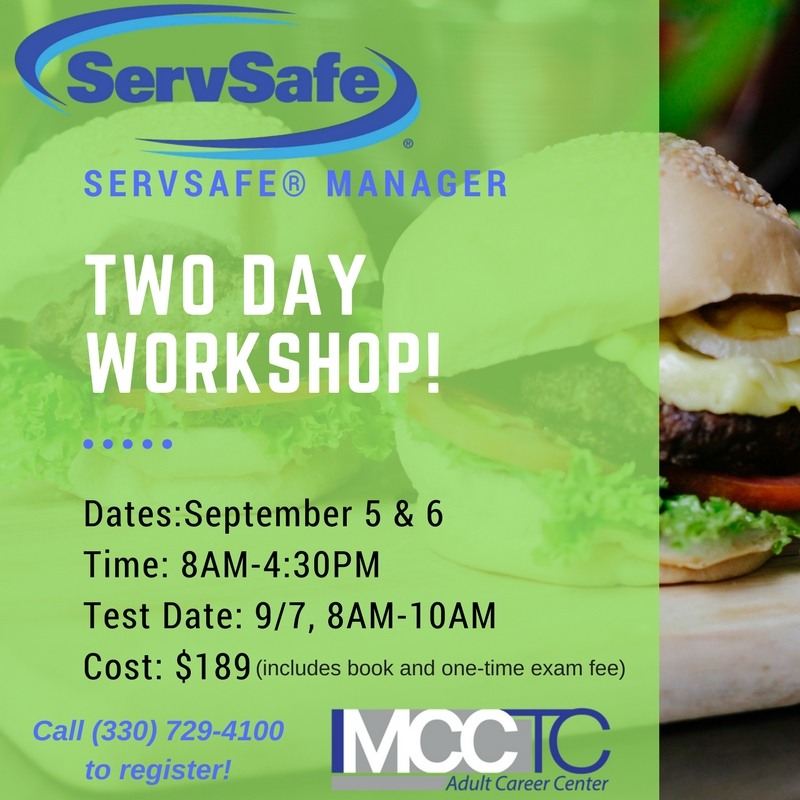 ServSafe course at MCCTC Adult Career Center   Mahoning County CTC