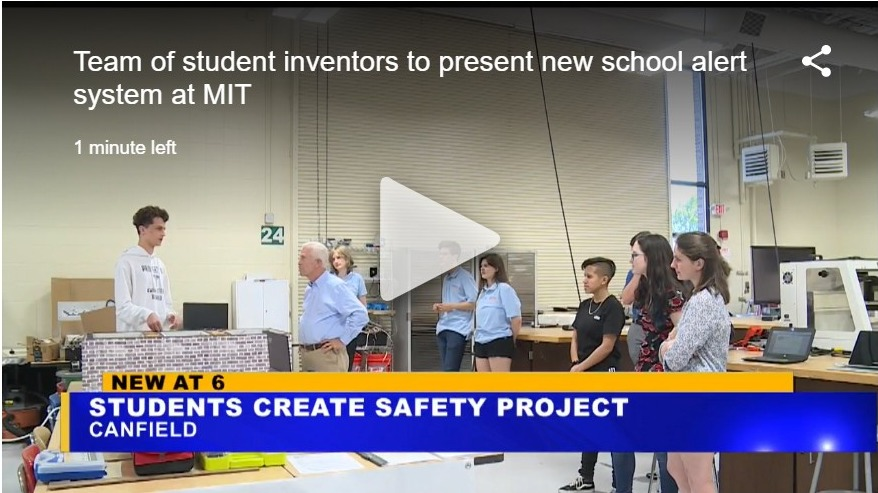 Team of student inventors